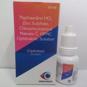 Naphazoline HCI, Zinc Sulphate, Chloropheniramine Maleate C, HPMC ophthalmic solution